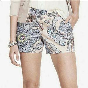 Express Paisley Print Shorts